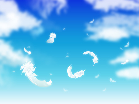 Sky and feathers and clouds 01