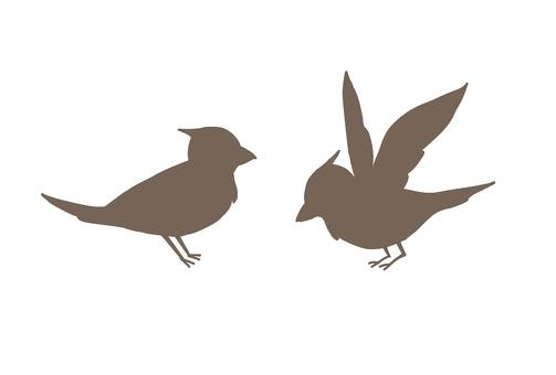 Bird illustration (silhouette)