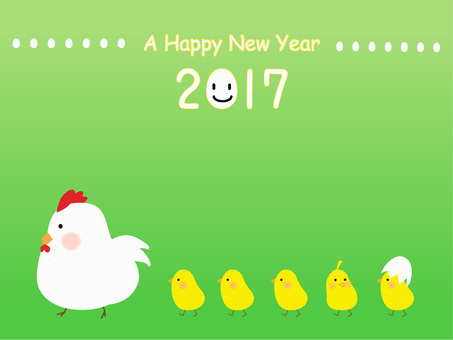 New year's card (rooster) March