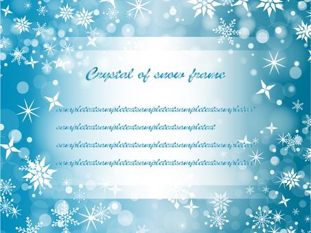 Snow crystal frame ver 02