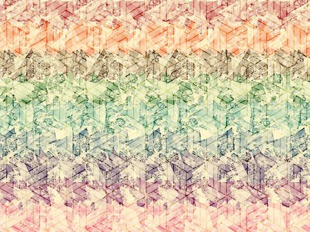 Chiyogami paper confetti watermark