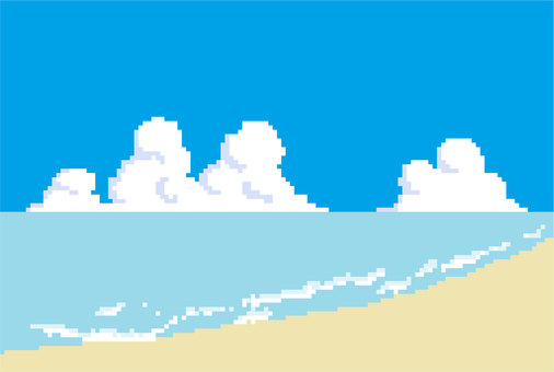 Dot picture background material sea sky beach
