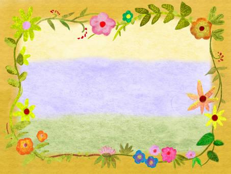 Flower frame 柑 子 色