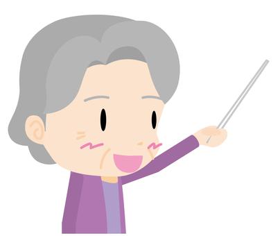 노인 여성 (프리젠 테이션) 바스트 업
