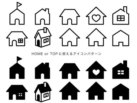 Icon patterns that can be used for home and top