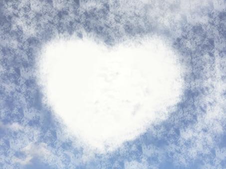 Heart cloud pattern texture 3