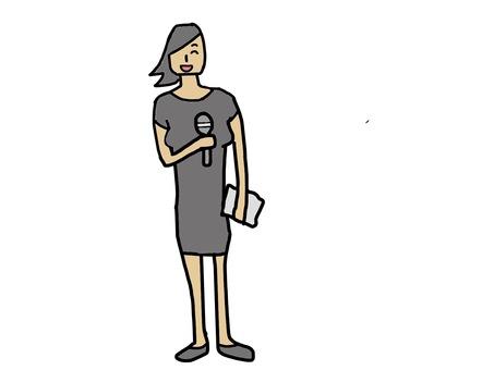 Presenter woman
