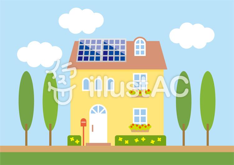 エコ発電住宅A2(太陽光屋上)のイラスト