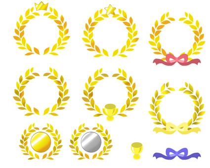 Crown of laurel · golden