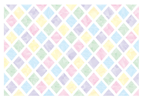Watercolor style horseshoe pattern material 02