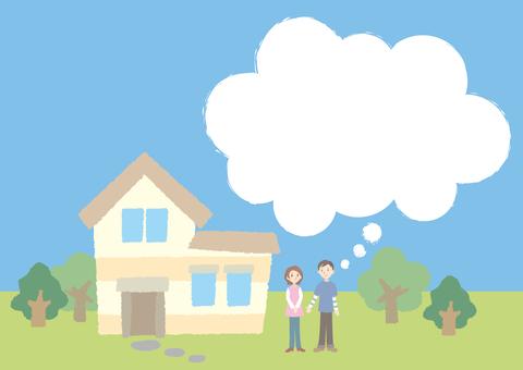 房子和人和雲標註