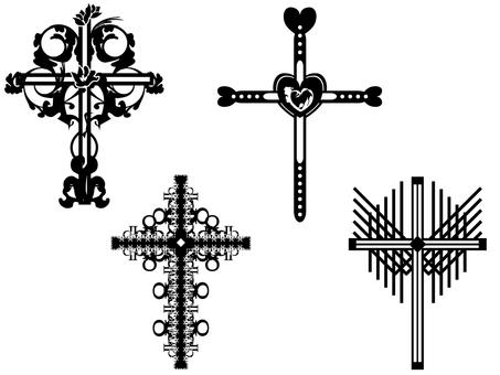 白黒十字架