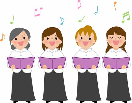 音楽イラスト 女声合唱