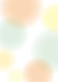 배경 흐림 물방울 橙緑 _A4 ぬりたし