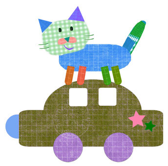 Cats on the car