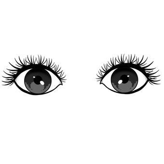 Eyelash natural volume eyes open