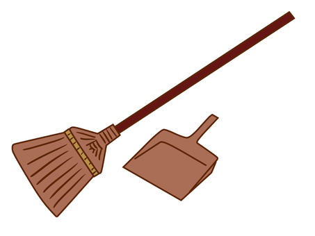 Broom and dust removal