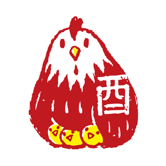 Rooster stamp 6