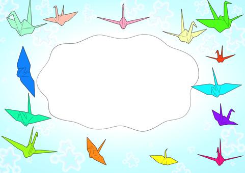 Paper crane postcard
