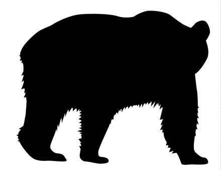 실루엣 - 곰 01
