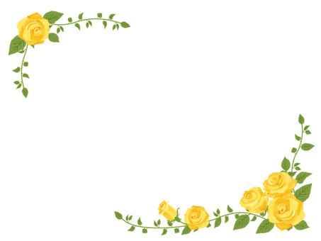 Yellow Rose's diagonal frame · Decorative frame 02