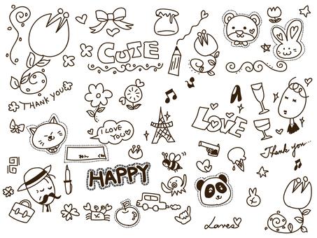 Handwritten illustration cute