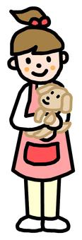 애완 동물 가게의 점원