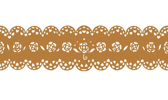 Lace material pattern 2 gold