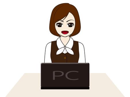 婦女/事務/接待員/ Woman_PC