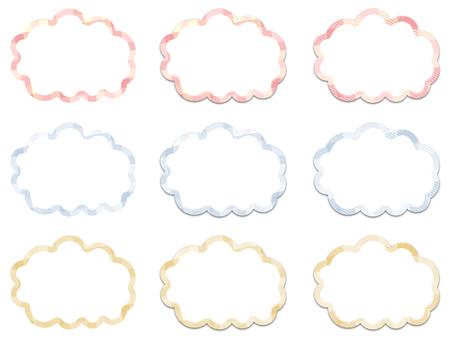 풍선 체크 무늬 (중 투명)