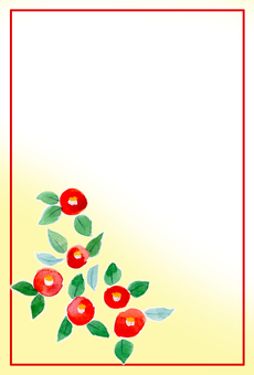 Camellia greeting card ②