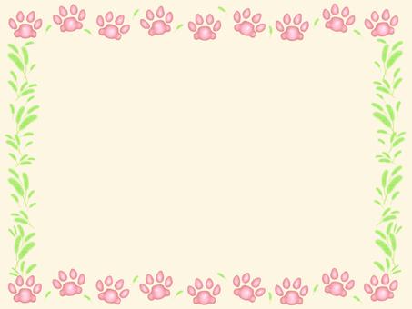 貓粉紅色的肉球
