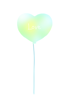 Heart balloon (blue)