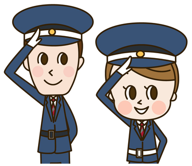 Male and female security guards (security 2)