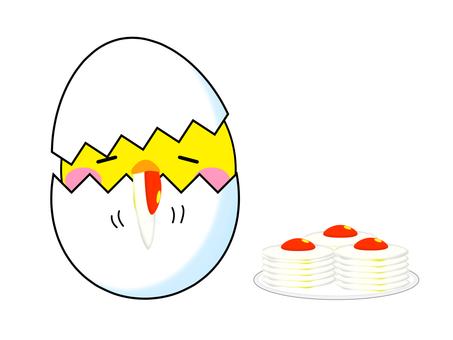 Morning meal eat egg 2