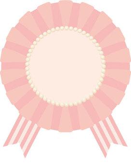 Chiffon rosette (pink)