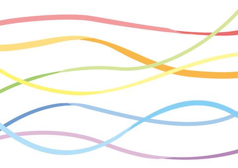 Rainbow-colored tape