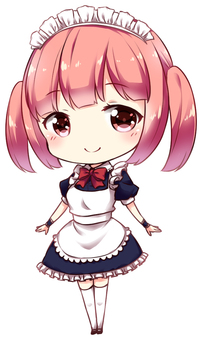 Akiba style maid (standing)
