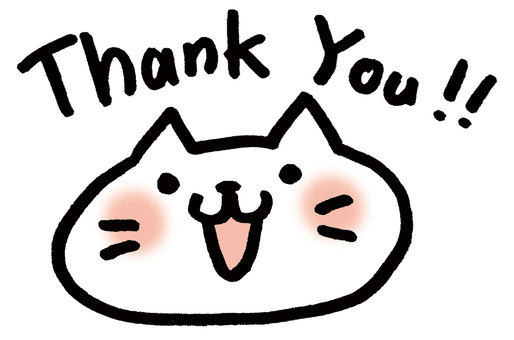 Thank you cat (character black version)