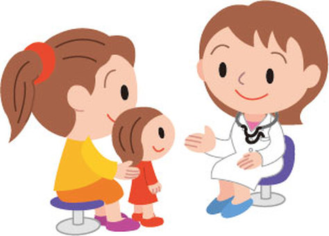 Doctor and girl patient