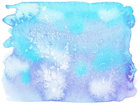 Watercolor background -20-Aqua blue