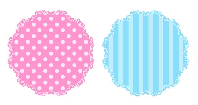 Title frame pink light blue