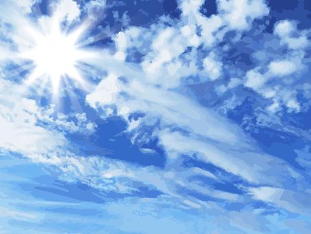 푸른 하늘 햇빛
