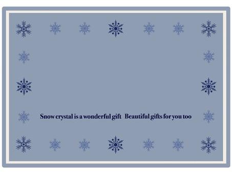 Frame snow crystal ⑥ classic