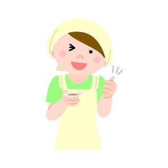 요리하는 여자 3