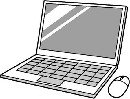 Laptop B & W