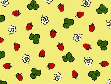 Japanese Strawberry Background Yellow