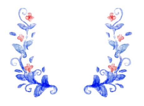 植物框架1藍色