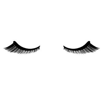 睫毛眼睛長長的眼睛閉合
