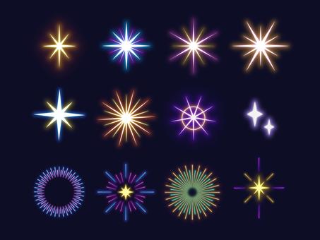Glitter glow material